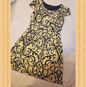 Yellow & Navy Dress